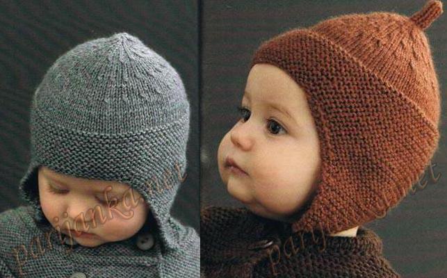 Вязаная шапка мальчику своими руками