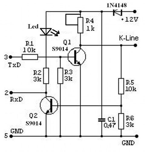 K line адаптером своими руками