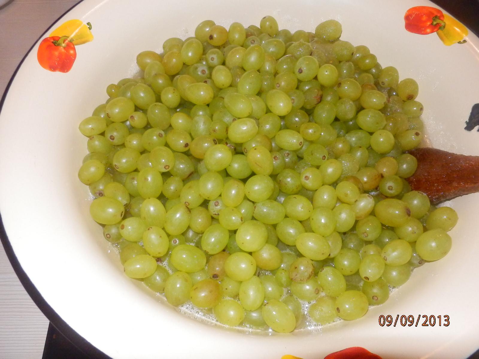 Белый виноград рецепт пошагово в
