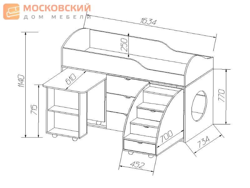 Мебель для детской комнаты своими руками чертежи