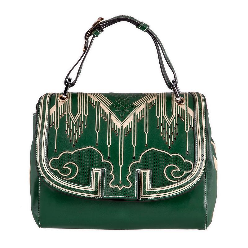 Купить женскую кожаную сумку цвета зеленого 38СК_258_11 Зеленый в интернет магазине.