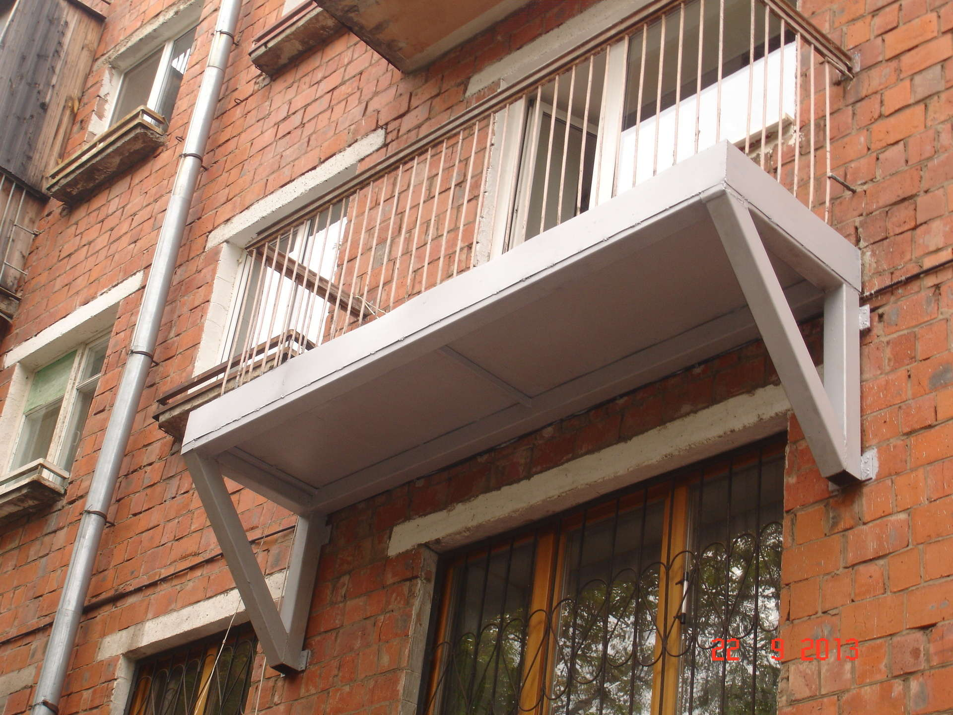 Отделка перил балкона. - дизайнерские решения - каталог стат.
