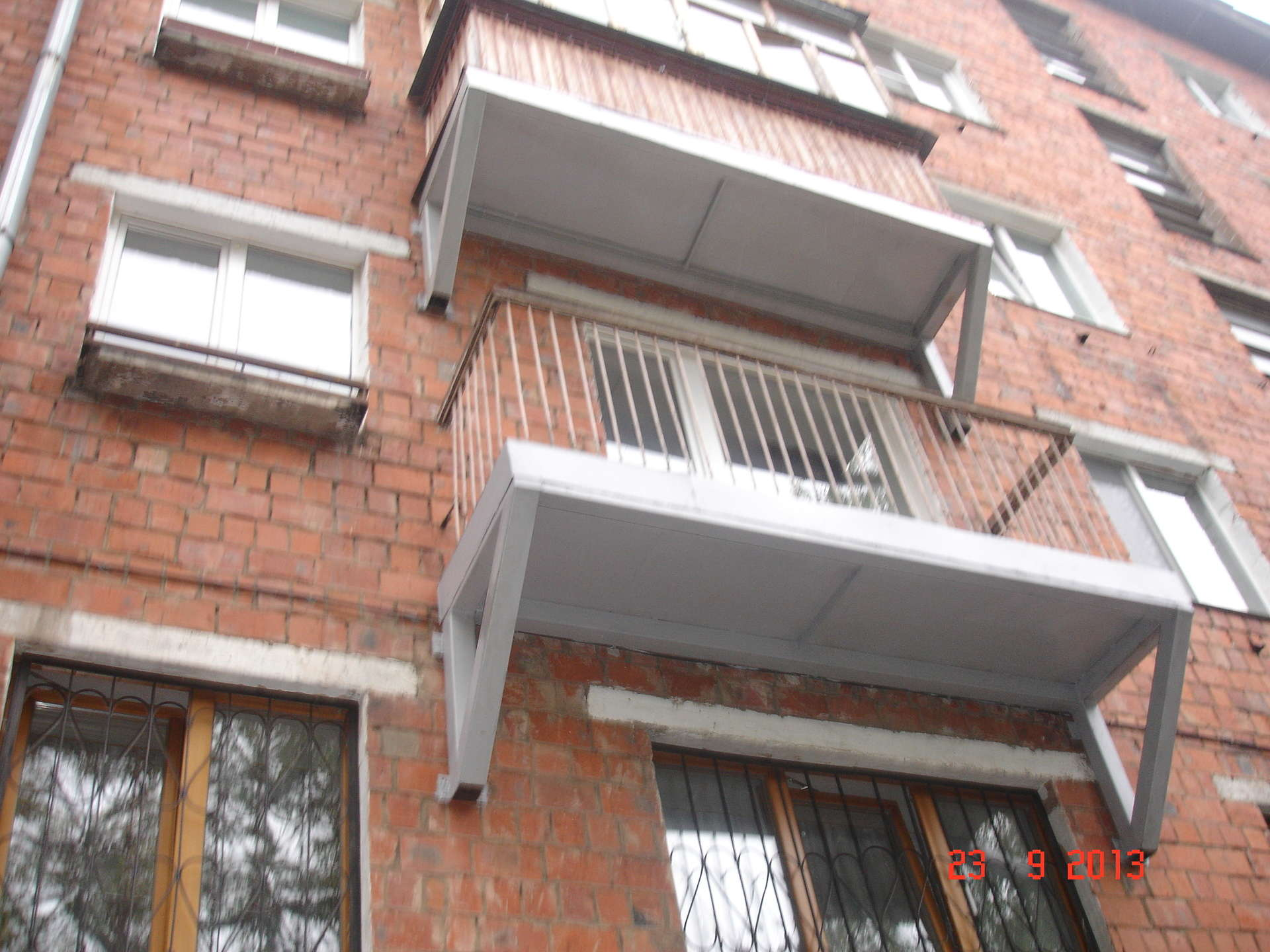 Восстановление плиты балкона..