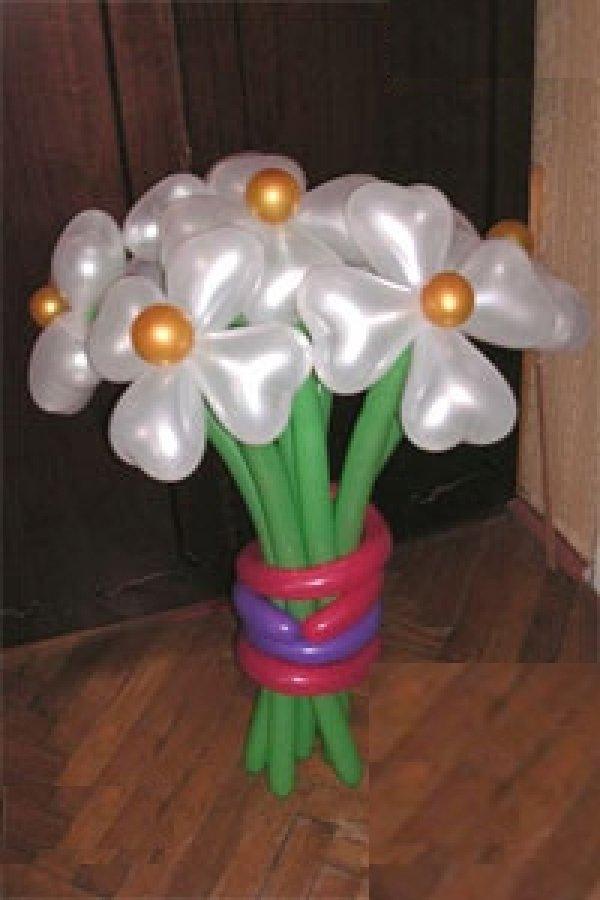 Цветы из шаров картинки 4