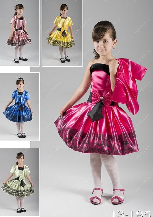 Нарядные короткие платья для девочек