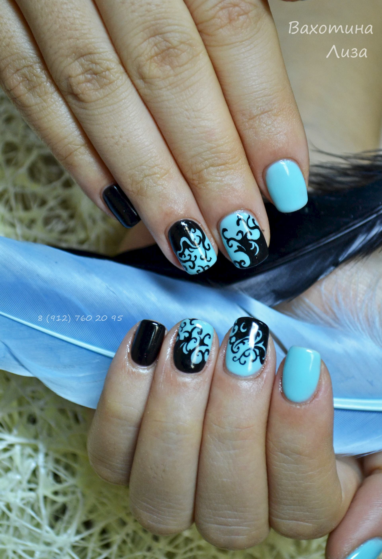 Фото ногтей покрытых гель лаком с рисунком