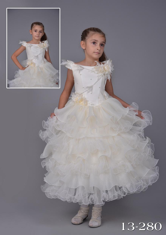 самое красивое детское бальное платье