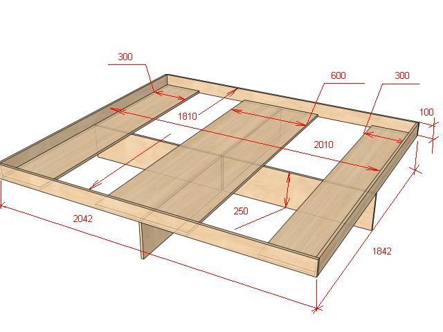 Кровати из дсп своими руками чертежи размеры 404