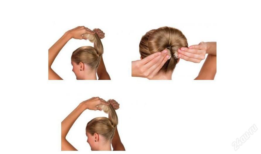 Как сделать шишку из волос с помощью заколки - Sport holdem
