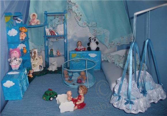 Как сделать для кукол детскую комнату