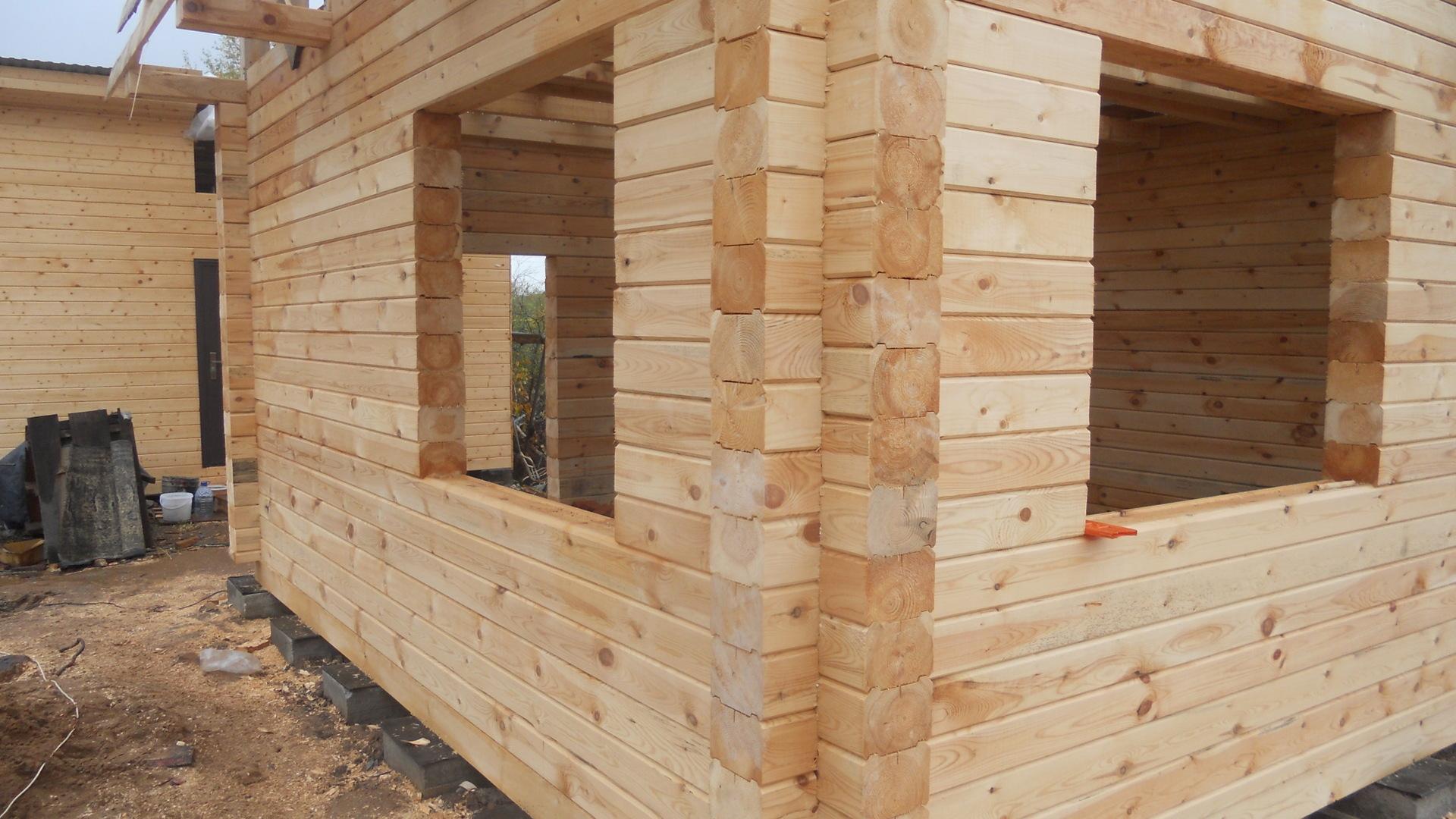 Как построить баню из профилированного бруса своими руками 64