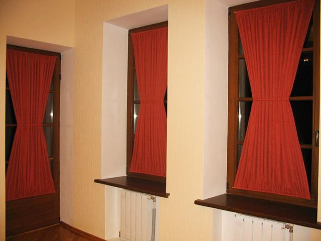 Шторы на узкие окна фото