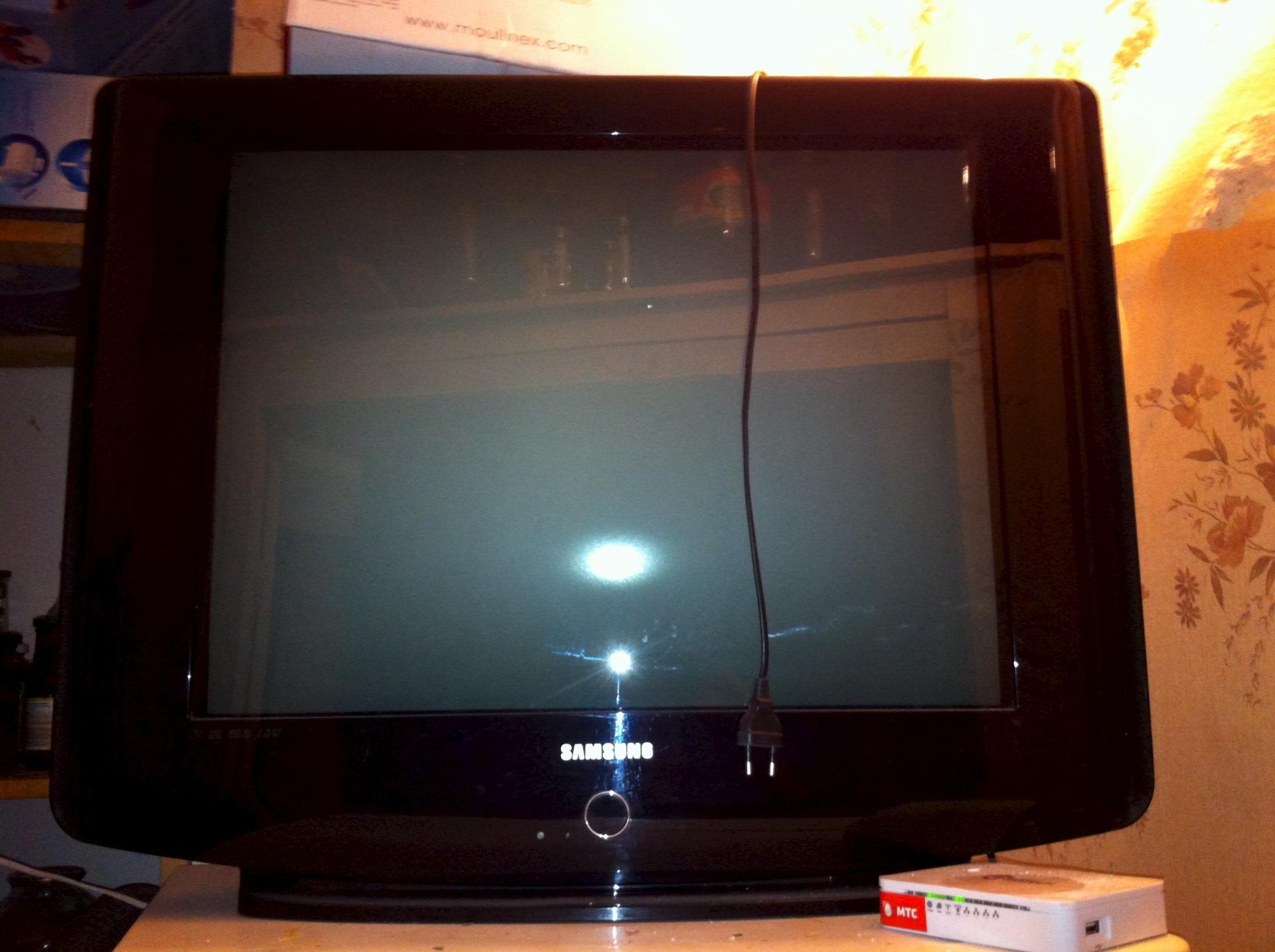 в телевизоре нет изображения звук есть