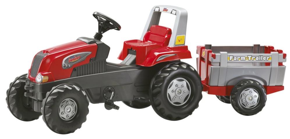 Детский педальный трактор с прицепом купить в Минске.