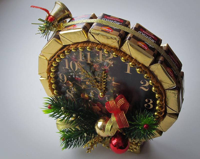 Топиарий из конфет на новый год своими руками