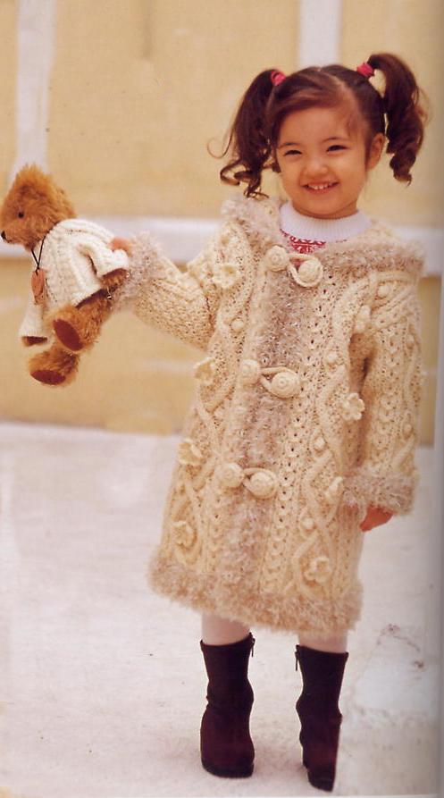 Детские вязаные пальто своими руками