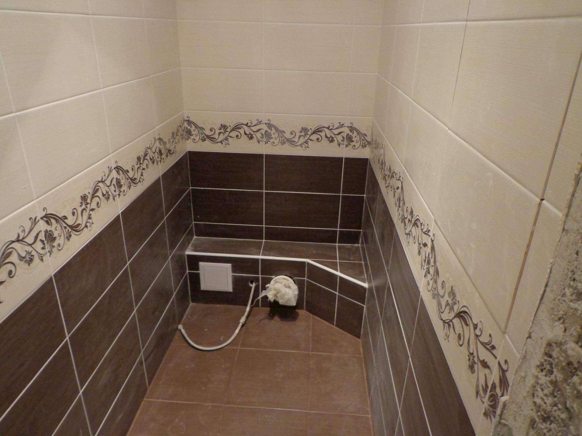 Укладка плитки у ванной дизайн фото