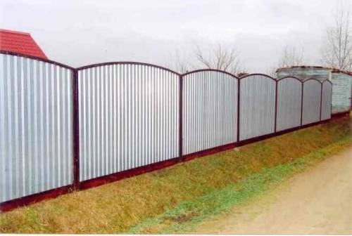 Забор профнастил своими руками фото