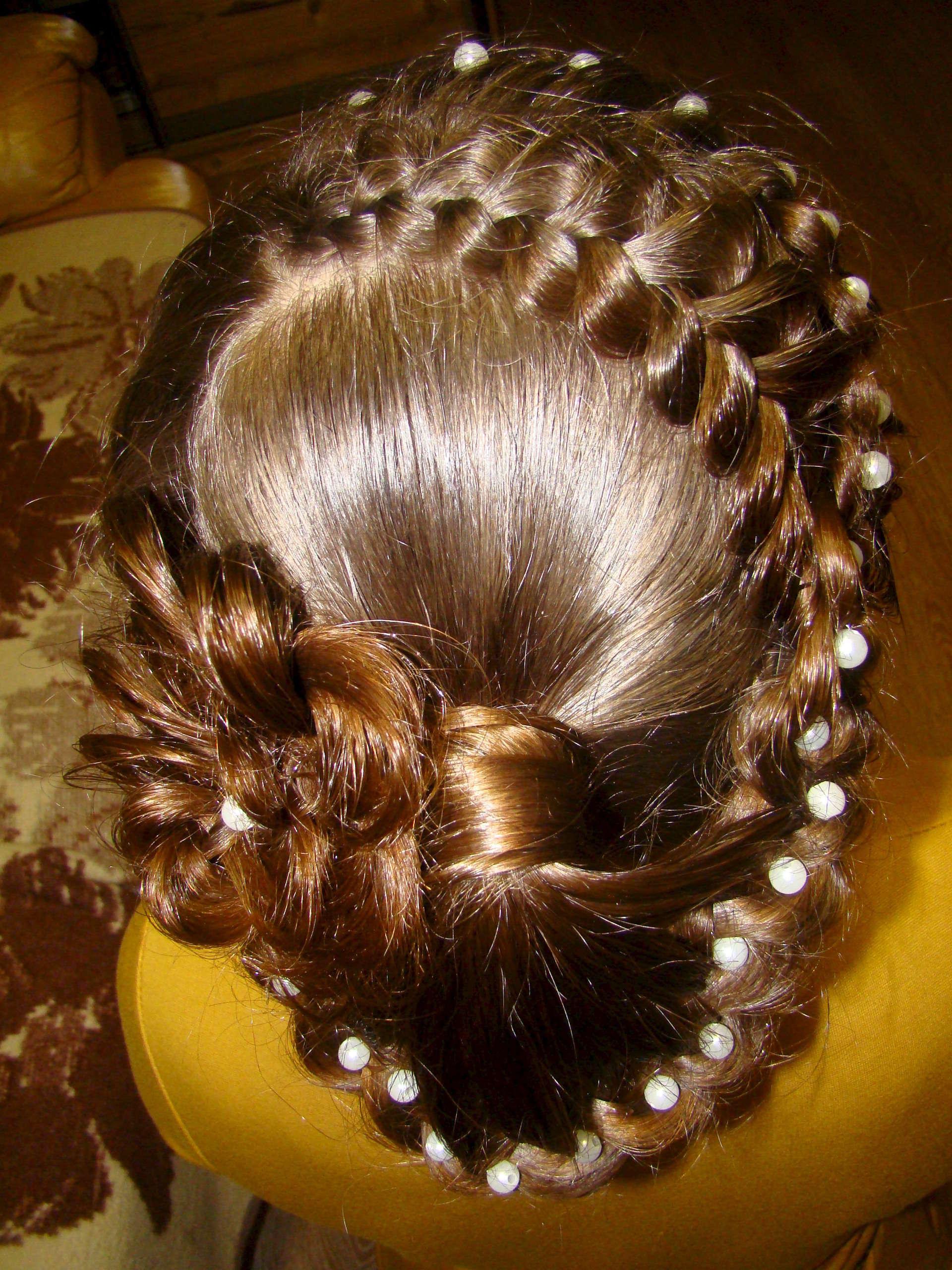 Причёска на длинные волосы кудри пошагово