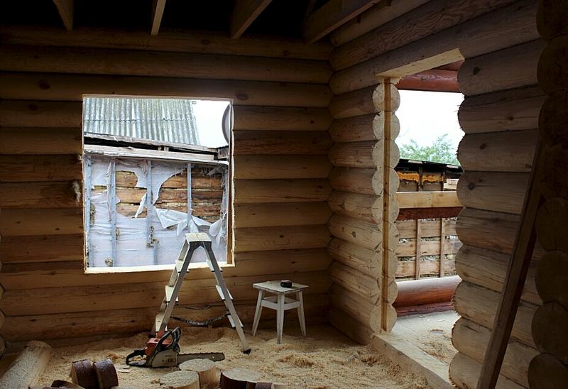 927 X 635 387.5 Kb Отделка деревянных домов: шлифовка,покраска,конопатка,теплый шов (фото).