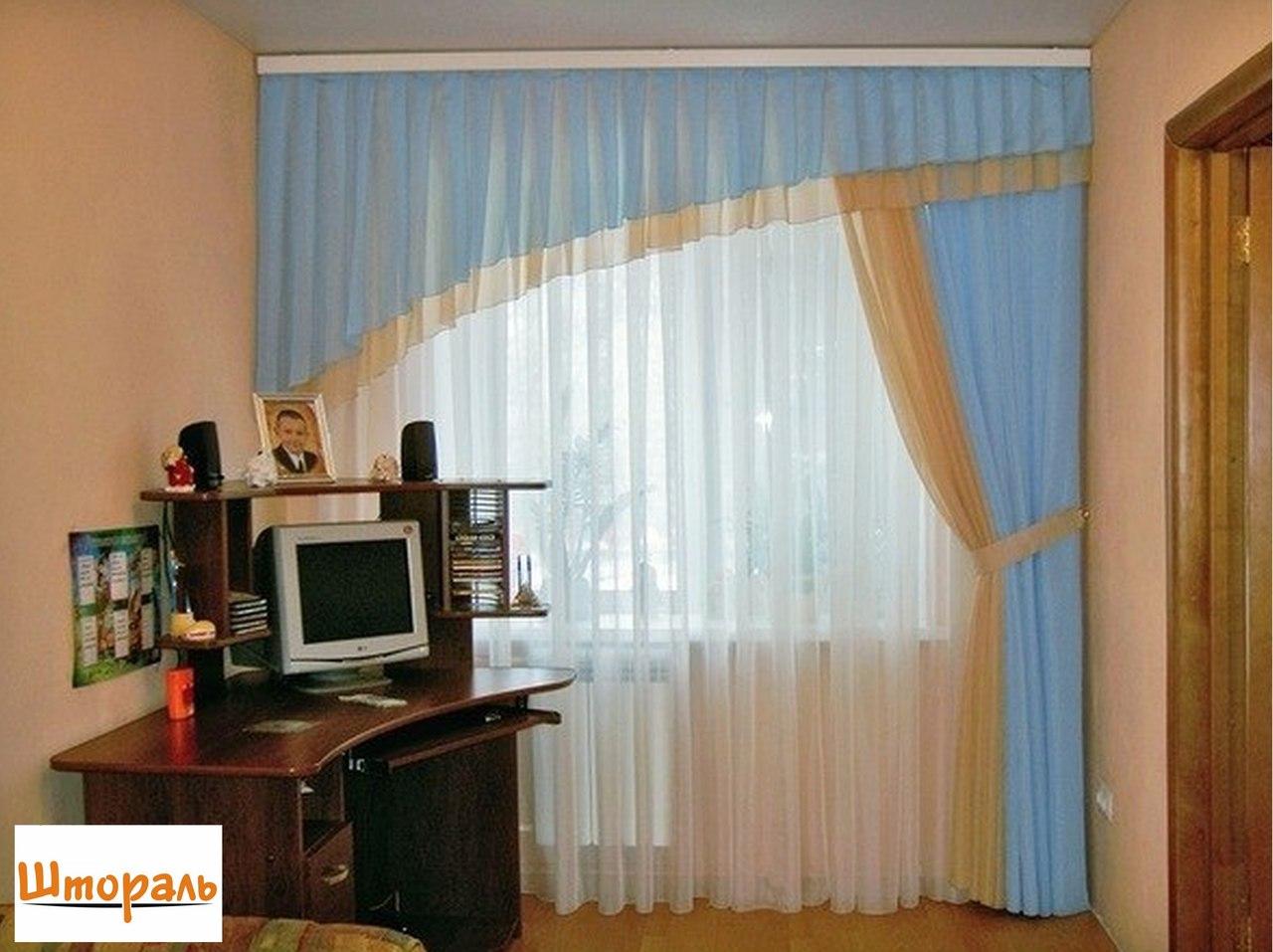 Дизайн штор в комнату мальчика