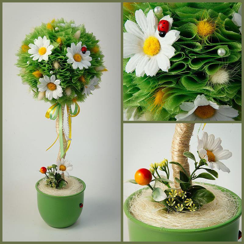 Топиарий из цветов своими руками пошагово 88