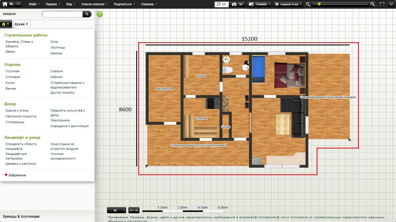 проект дома 6х10 полтора этажа схема отопления