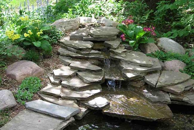 Водопады из плоского камня 162