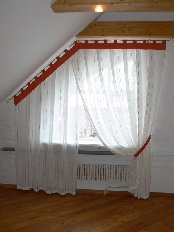 Шторы на треугольное окно