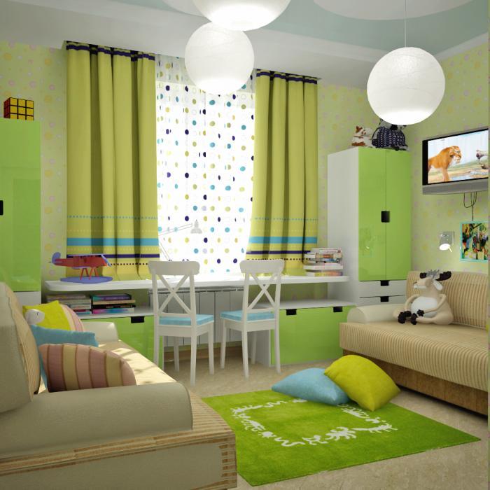 Интерьер детской комнаты для двоих детей фото 13 м2 - Pinterest 16