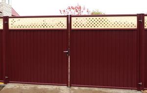 300 x 190 Заборы из профнастила, сетки рабицы, а также модульные ограждения. Ворота и калитки!