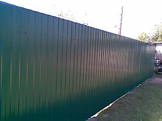 320 x 240 строим заборы из профнастила и не только
