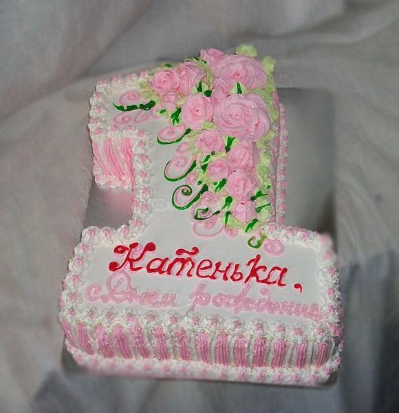 Как украсить торт на годик девочке без мастики