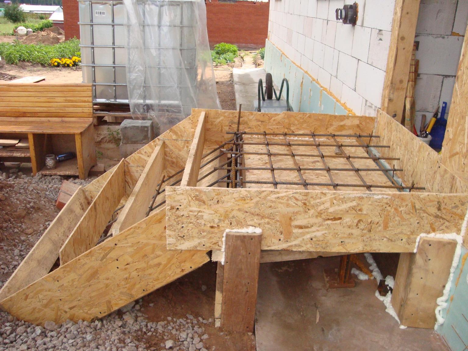 Как сделать ступеньки в дом из бетона