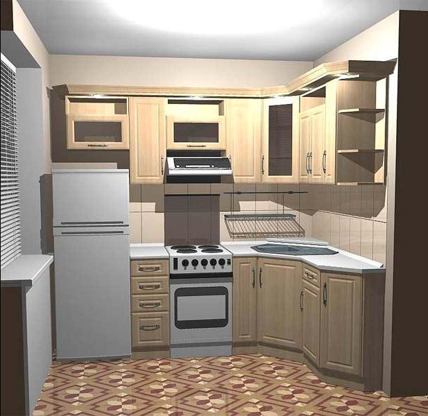 Дизайн кухни хрущевки 6 метров с холодильником