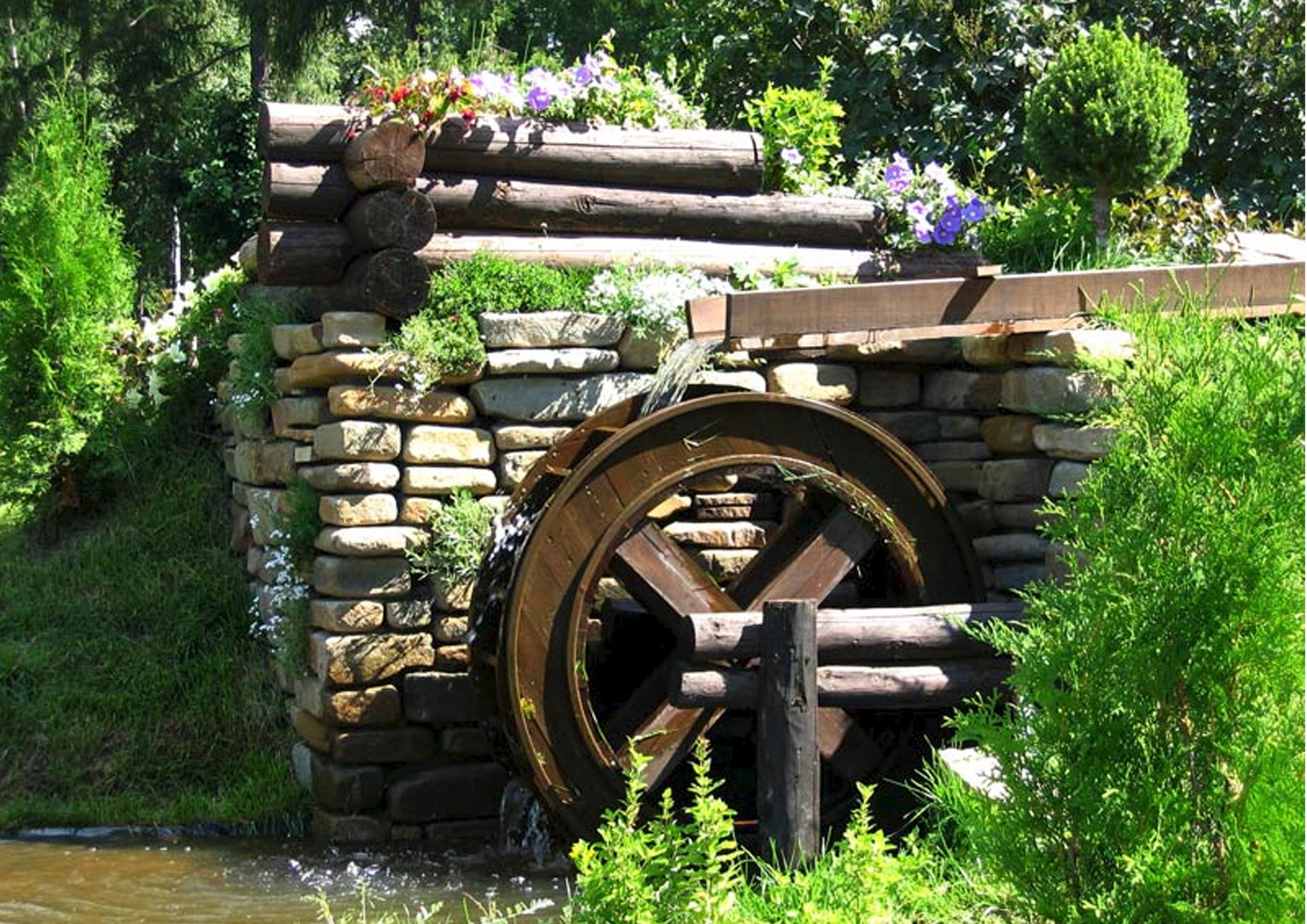 Водяные мельницы своими руками фото