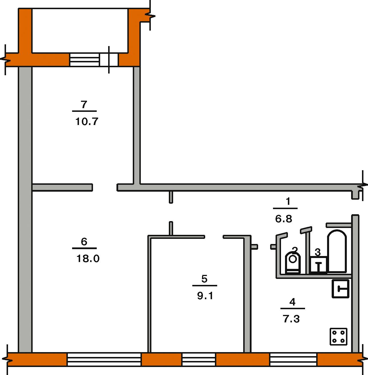 Продам 3к квартиру, пушкинская 373 : квартиры, комнаты, студ.