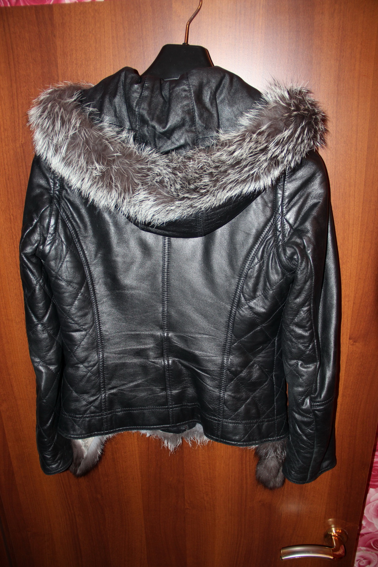 Кожаная Куртка С Чернобуркой