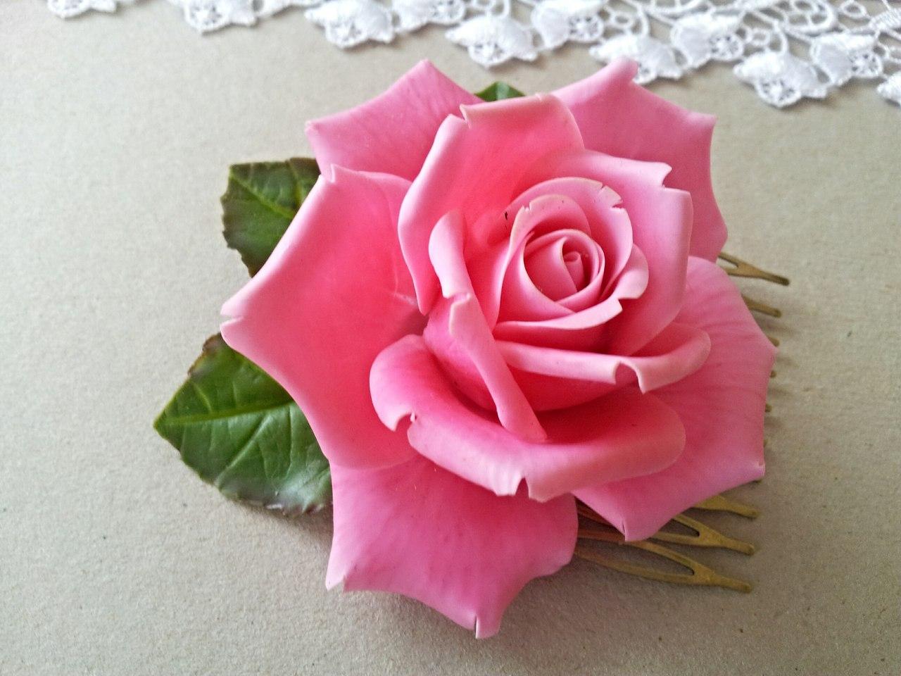 Розы из холодного фарфора своими руками фото
