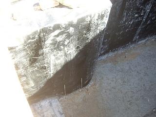 Пола парной в бетонного гидроизоляция