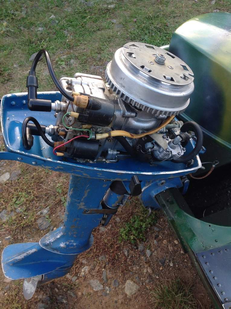 лодочный мотор покраска