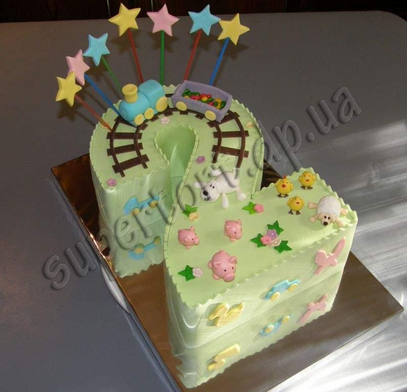 Торт для мальчика на 2 года своими руками 85