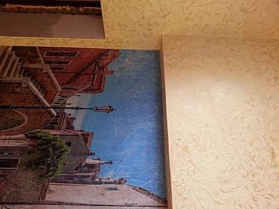 оклейка стен фотообоями: