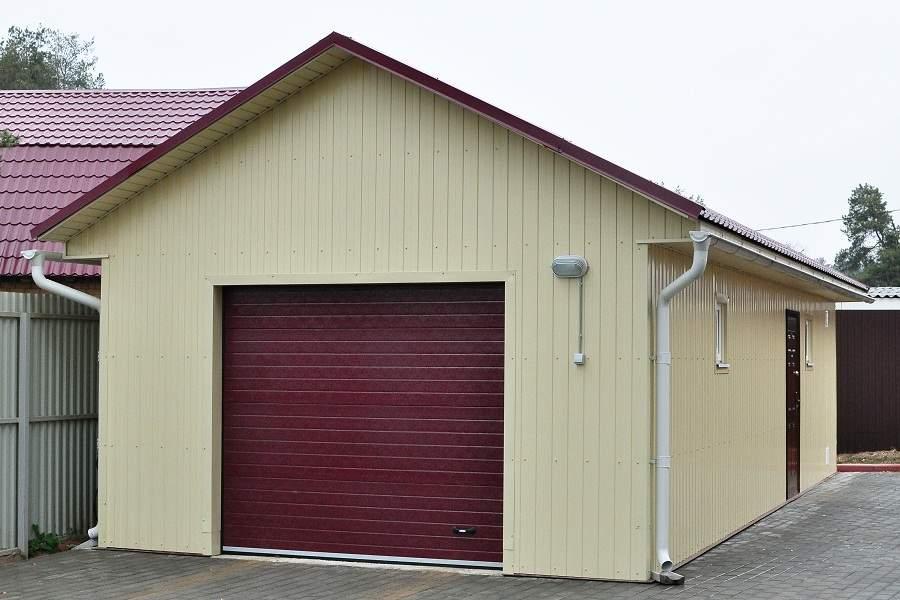 Железный гараж своими руками чертежи
