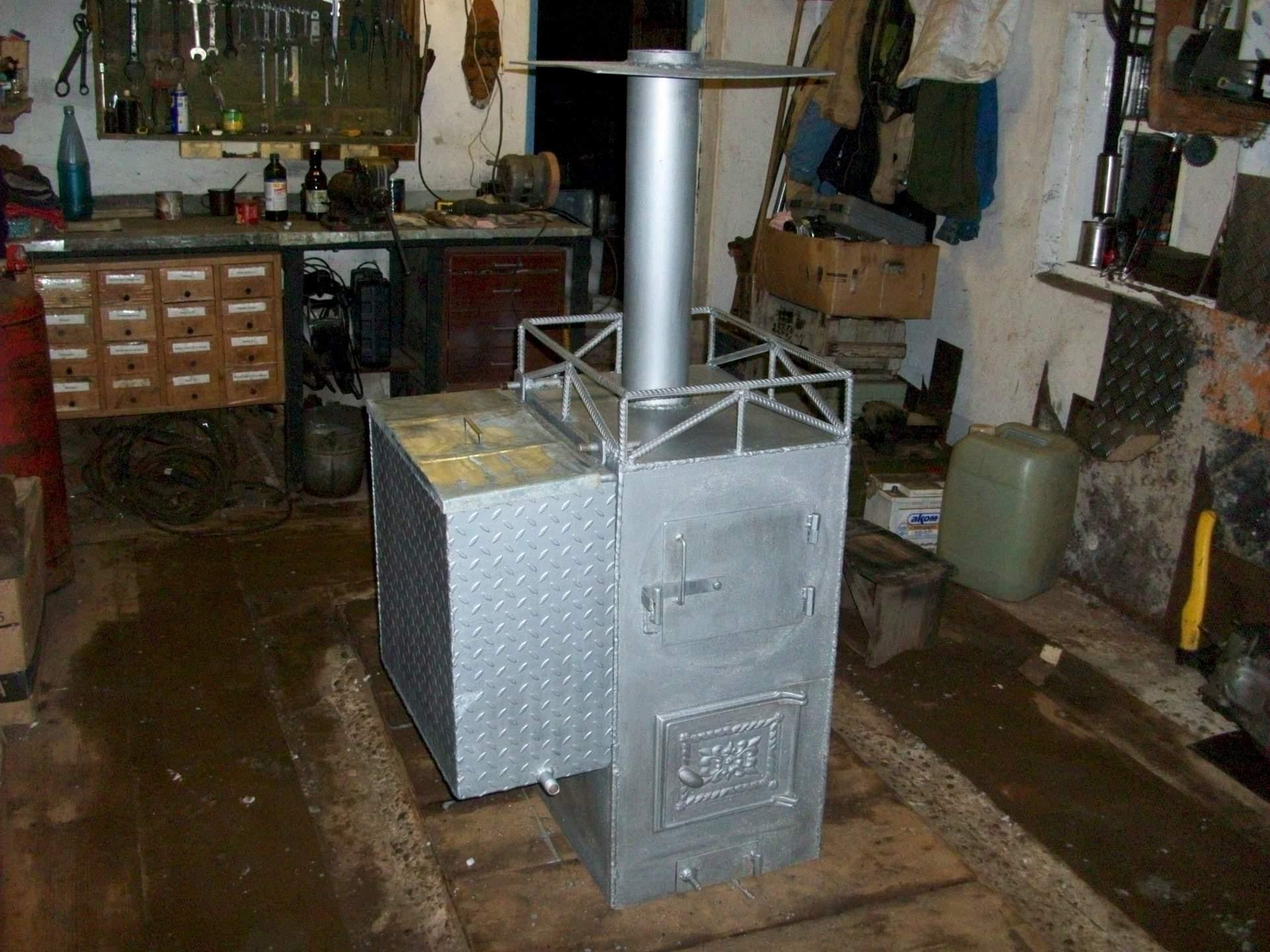 Печь для бани из металла своими руками 30