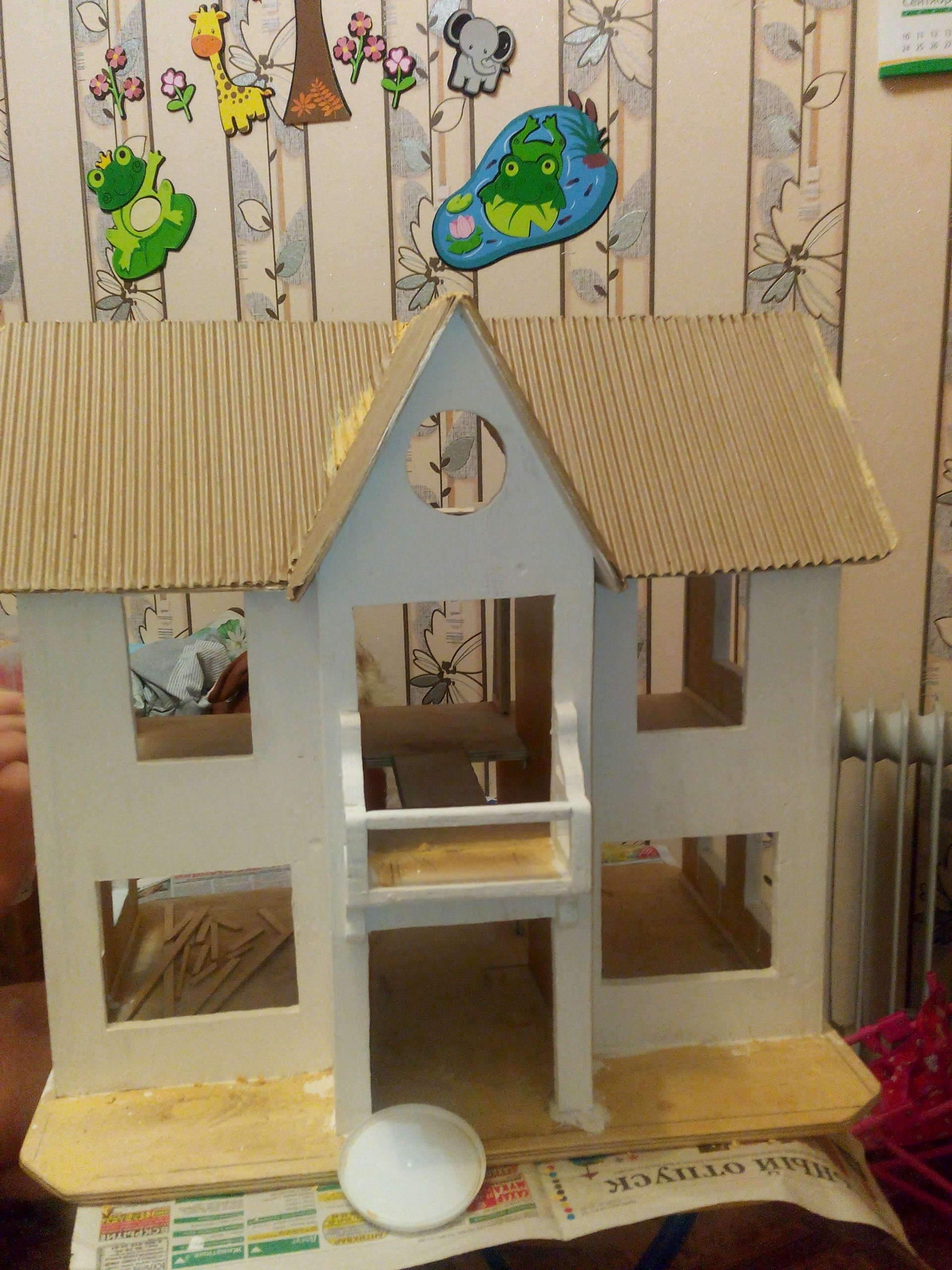 Как сделать мебель для кукольного домика барби своими руками