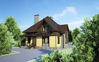 1280 X 800 224.0 Kb Проекты уютных загородных домов