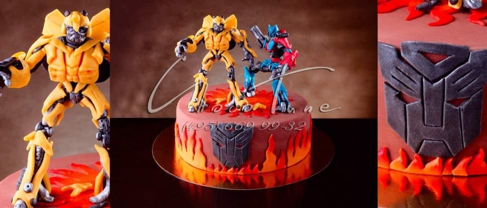 детский торт трансформер фото