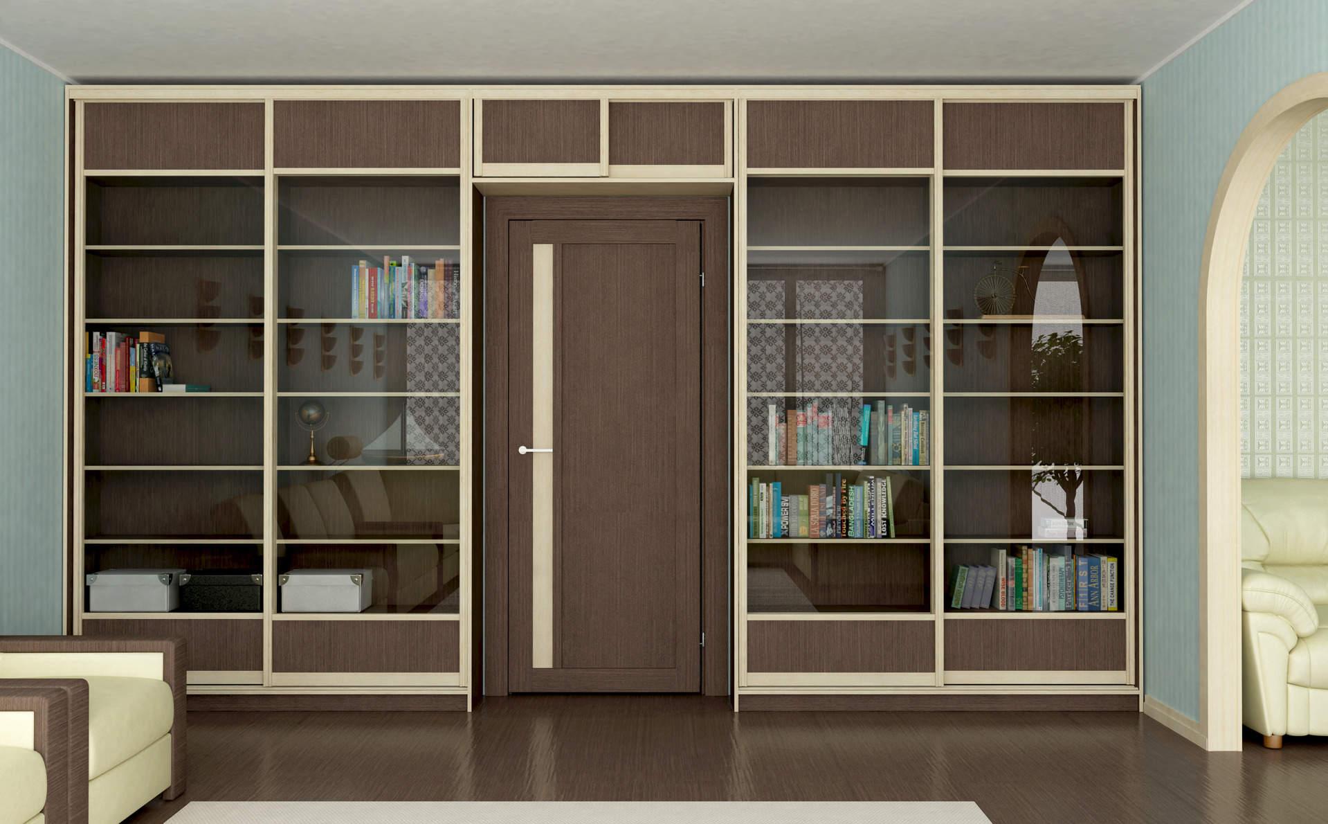 Книжные шкафы-купе.