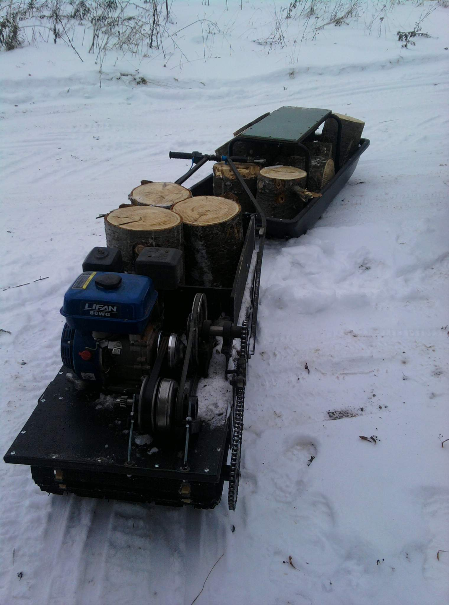 Снегоход своими руками с вариатором 95